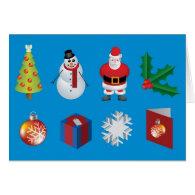 Internet Christmas Icon card.