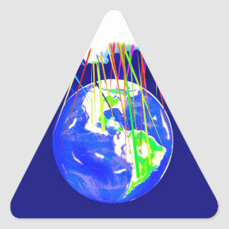 Internet Cloud Triangle Sticker