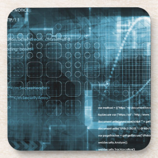 Internet Concept Background with Digital Concept Beverage Coaster