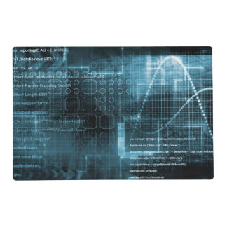 Internet Concept Background with Digital Concept Laminated Placemat