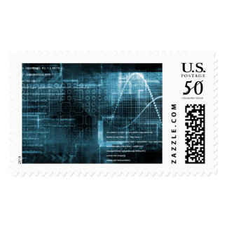 Internet Concept Background with Digital Concept Postage