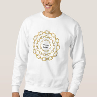 INTERNET CULTURE: GOLD CHAIN CIRCLES SWEATSHIRT
