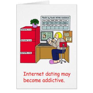 Internet dating addiction. card