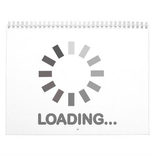 Internet de la barra de cargamento calendario de pared