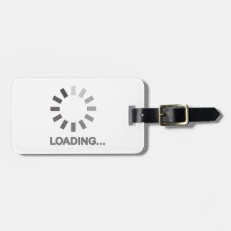 Internet de la barra de cargamento etiquetas de equipaje