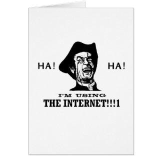 Internet de la ha ha tarjetón