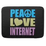 Internet del amor de la paz fundas macbook pro
