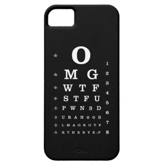 Internet Dictionary Eye Chart iPhone 5 Cover