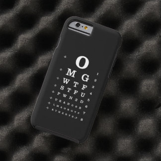 Internet Dictionary Eye Chart iPhone Case Tough iPhone 6 Case