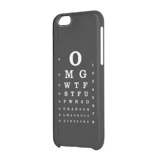 Internet Dictionary Eye Chart Uncommon Clearly™ Deflector iPhone 6 Case