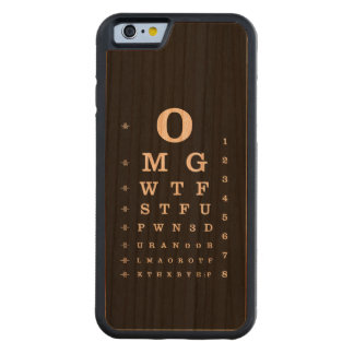 Internet Dictionary Eye Chart iPhone Case Carved® Cherry iPhone 6 Bumper