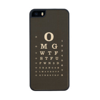 Internet Dictionary Eye Chart iPhone Case Carved® Maple iPhone 5 Case