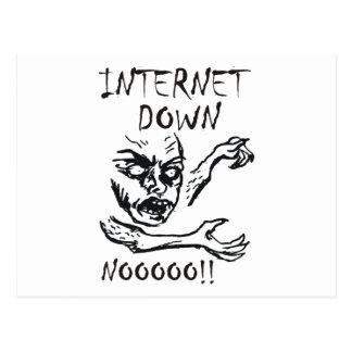 Internet Down.  NOOOO! Postcard
