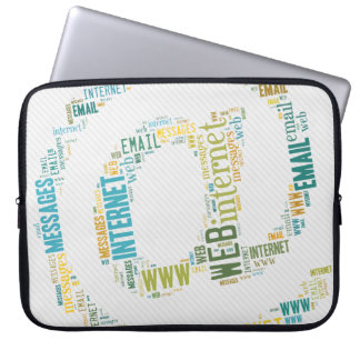 Internet Email Typed Text Symbol   Geek Gifts Computer Sleeve
