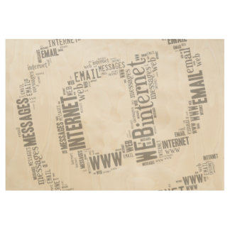 Internet Email Typed Text Symbol | Geek Gifts Wood Poster