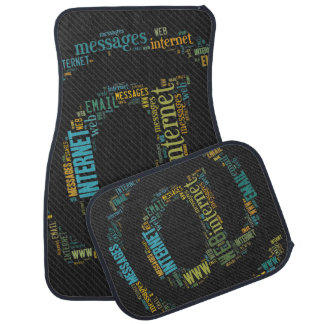 Internet Email Typed Text Symbol | Geek Gifts Floor Mat