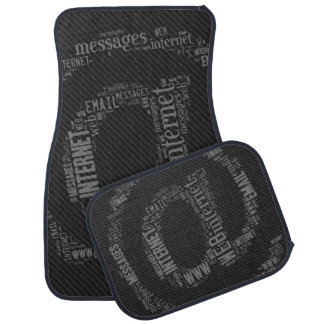 Internet Email Typed Text Symbol | Geek Gifts Car Mat