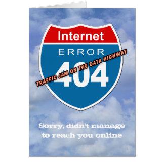 Internet Error 404 Card