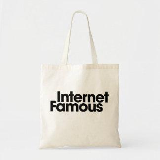 Internet famoso bolsa tela barata