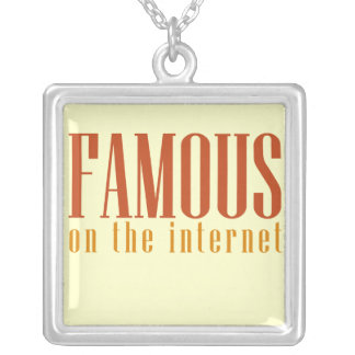 Internet famoso colgante cuadrado