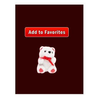 Internet favorites folder postcard