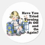 Internet Humor Classic Round Sticker