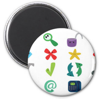 Internet Icons 2 Inch Round Magnet