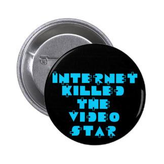 Internet Killed the Video Star 80s retro Pinback Button