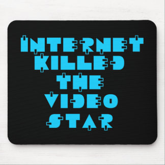Internet Killed the Video Star 80s retro Mouse Pad