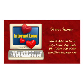 Internet Love Double-Sided Standard Business Cards (Pack Of 100)