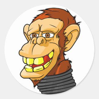Internet Monkey Classic Round Sticker