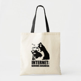 Internet: Negocio serio (camiseta divertida del lo Bolsas