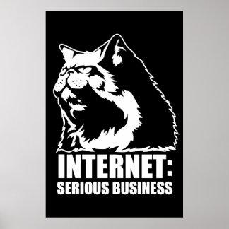 Internet: Negocio serio (camiseta divertida del lo Poster