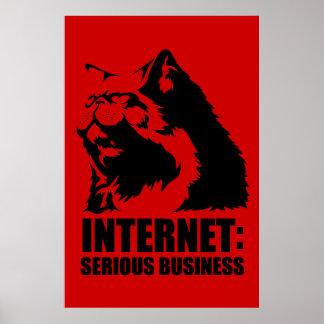 Internet: Negocio serio (camiseta divertida del lo Póster