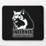 Internet: Negocio serio (camiseta divertida del lo Tapete De Ratón