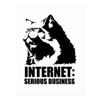 Internet Negocio serio camiseta divertida del lo Tarjetas Postales