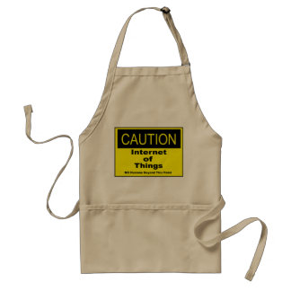 Internet of Things IoT Caution Warning Sign Adult Apron
