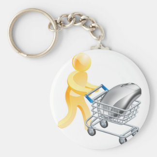 Internet online shopping concept key chains