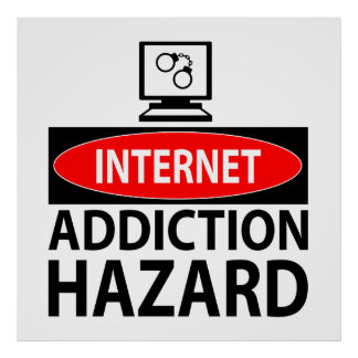Internet - peligro del apego póster