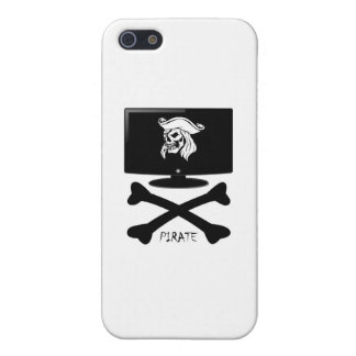 Internet Pirate Skull Shirt Covers For iPhone 5