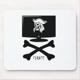 Internet Pirate Skull Shirt Mouse Pad