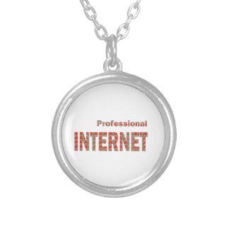 INTERNET Professional:  WoW WwW Web Net Pod APP Round Pendant Necklace