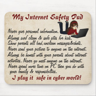 Internet Safety Pad Mouse Pad