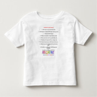 Internet Safety Rules for Kids Toddler T-shirt