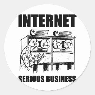 Internet Serious Business Classic Round Sticker
