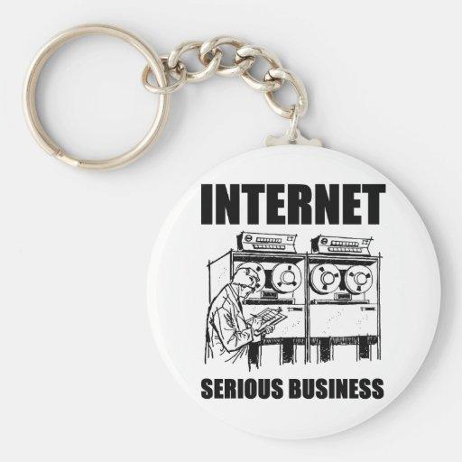 Internet Serious Business Basic Round Button Keychain
