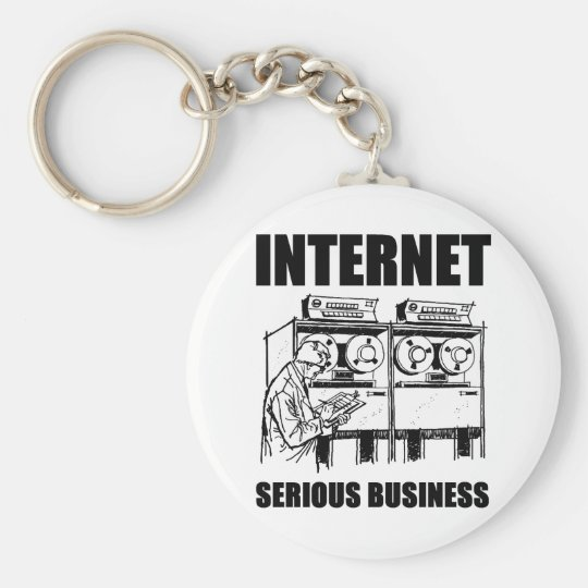 Internet Serious Business Keychain