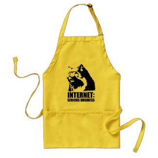 Internet: Serious Business (lolcat funny tshirt) Adult Apron