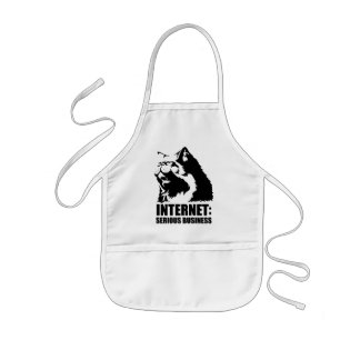 Internet: Serious Business (lolcat funny tshirt) Kids' Apron