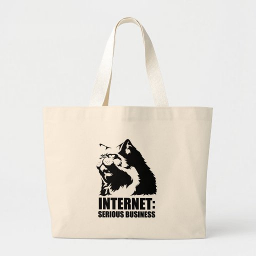 Internet: Serious Business (lolcat funny tshirt) Canvas Bags